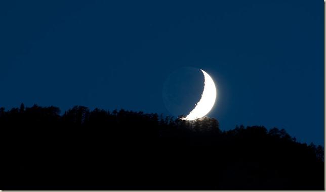 Monduntergang am Sattel