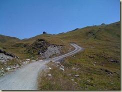 Steiler Anstieg zur Heilbronner Hütte