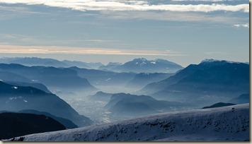 Blick vom Villanderer Berg ins Unterland