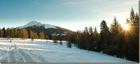 Der Weißhorn bei Sonnenuntergang