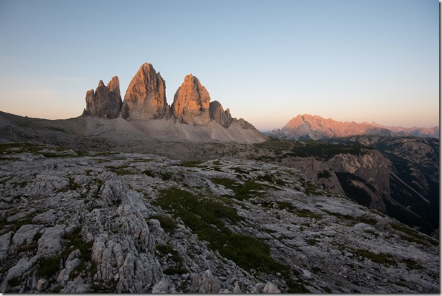 Sonnenaufgang mit Fels