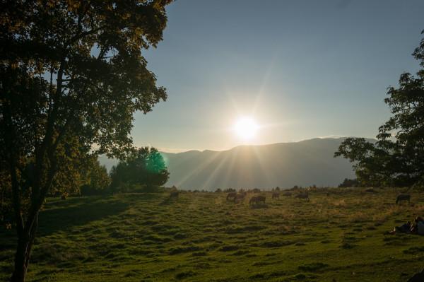Sonnenuntergang bei der Cisloner Alm