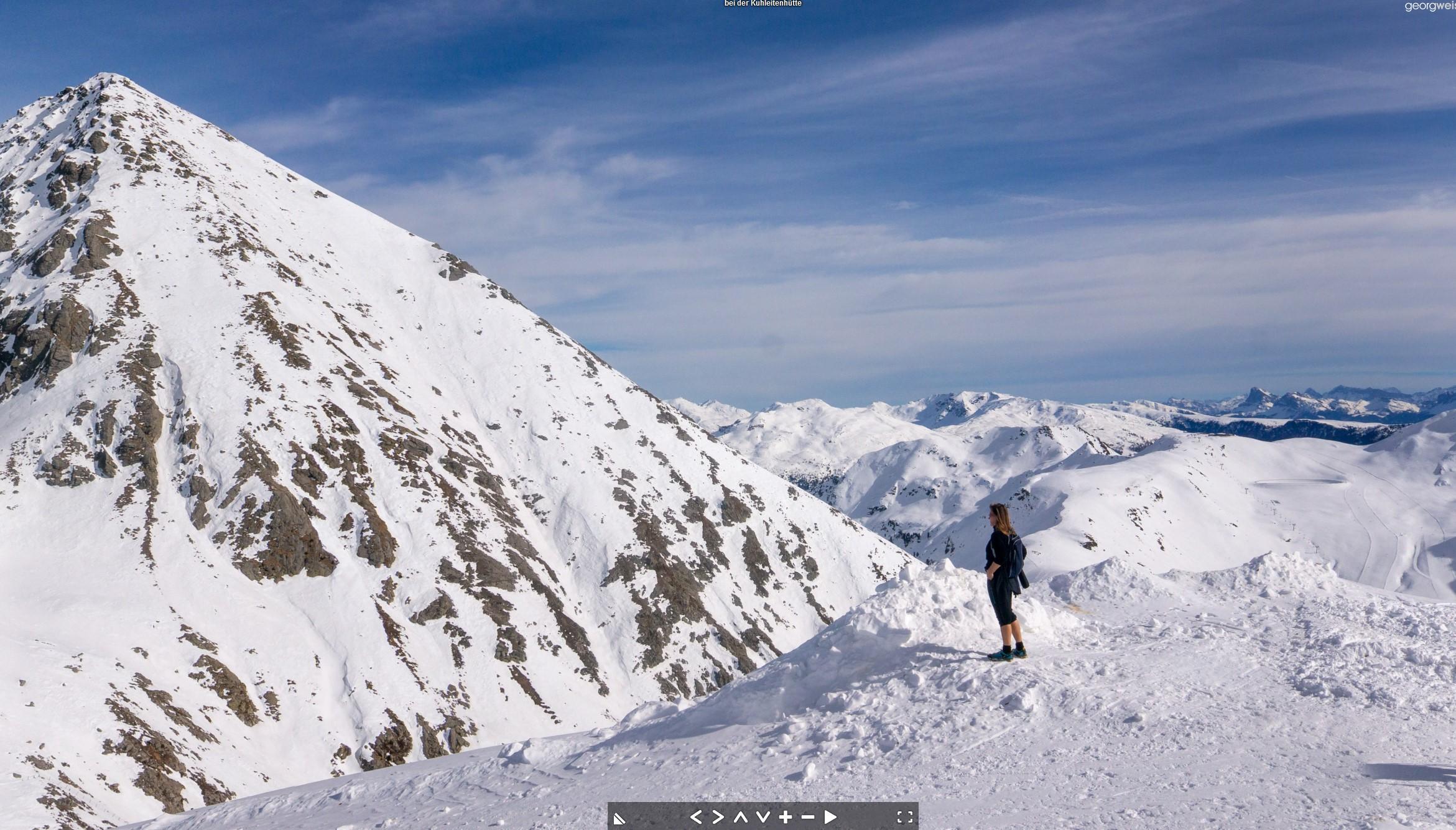Die Kuhleitenhütte im Winter (2361 m), Hafling