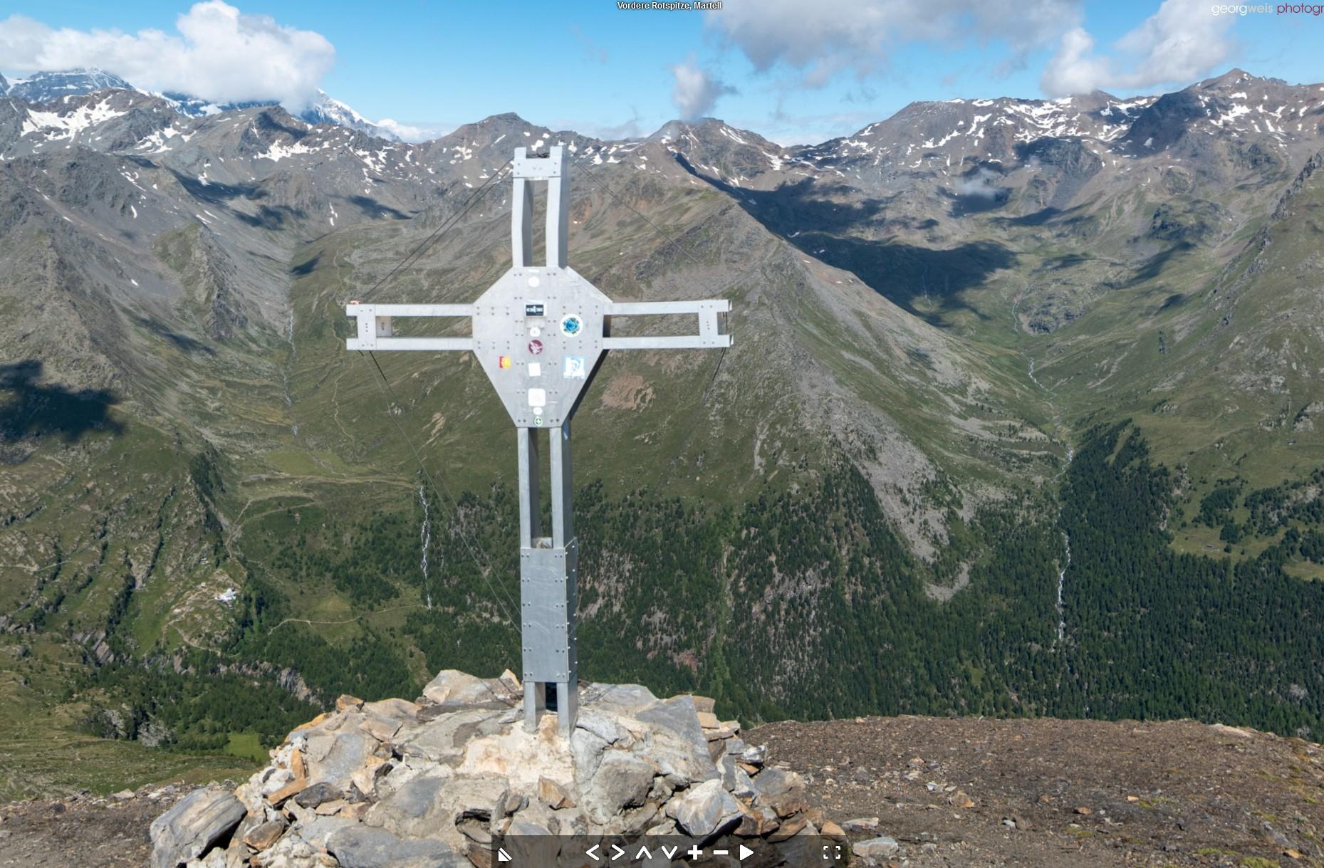 Vordere Rotspitze (3033 m), Martell