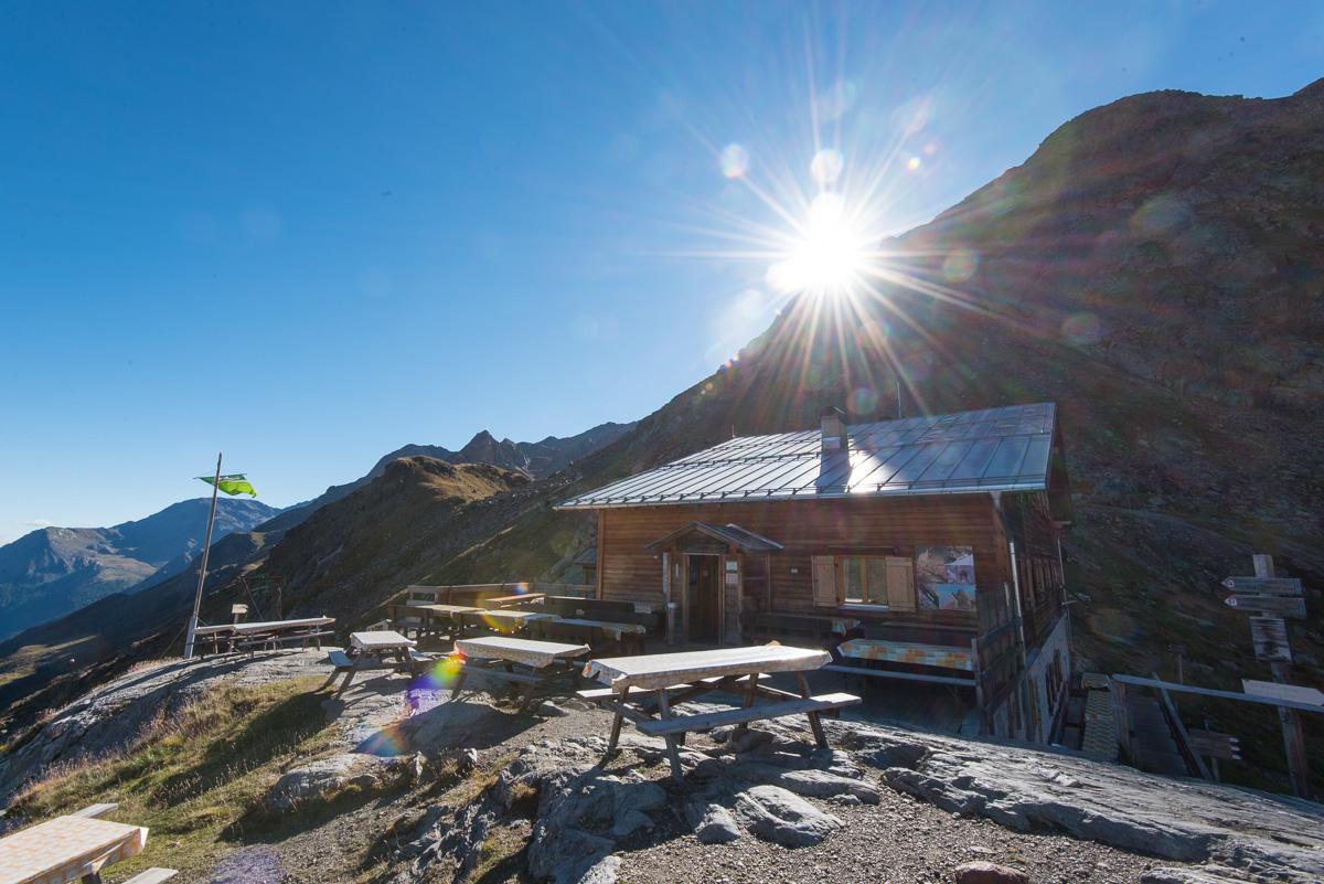 Sonnenaufgang bei der Marteller Hütte